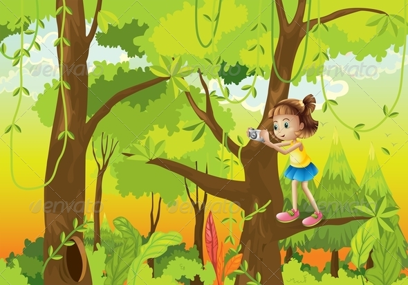 GraphicRiver Girl in Tree with Camera 8051506