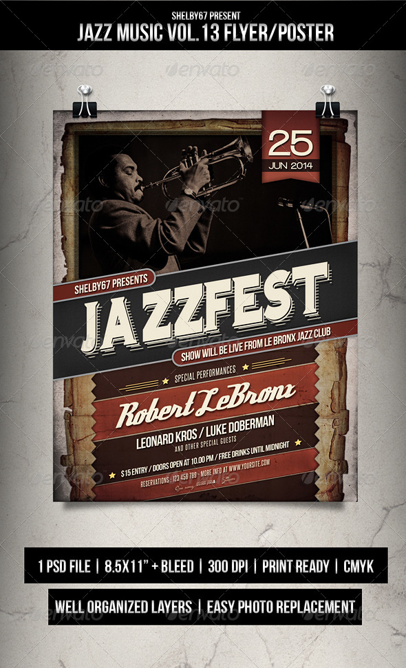 GraphicRiver Jazz Music Flyer Poster Vol.13 8051537