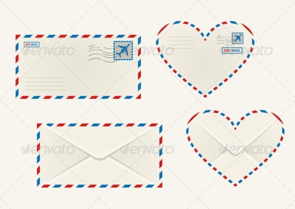 GraphicRiver Different Airmail Envelopes 8051585