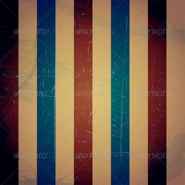 GraphicRiver Colored Striped Vintage Texture Grunge Background 8051696