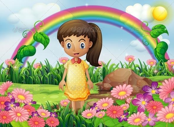 GraphicRiver Girl in Garden 8051711