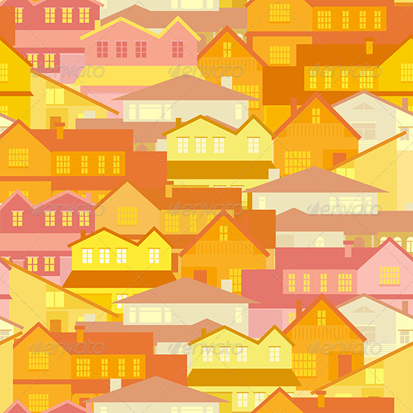 GraphicRiver seamless house pattern 8050222