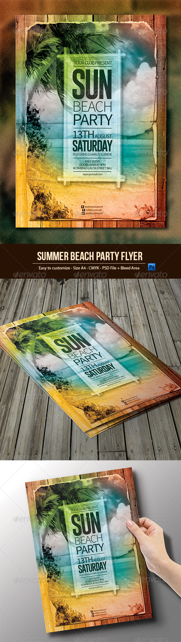 GraphicRiver Summer Beach Party Flyer 8051873