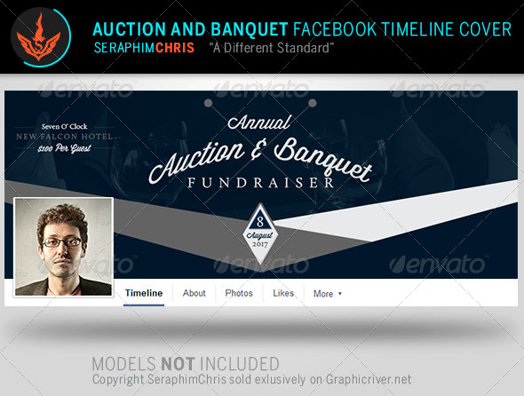 GraphicRiver Auction and Banquet Facebook Timeline Template 8052106