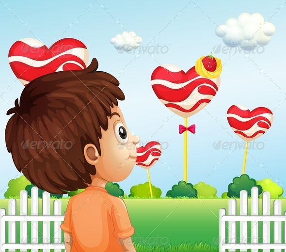 GraphicRiver Boy watching Lollipops 8052112
