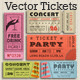 Vector Grunge Tickets and Coupons 3 - GraphicRiver Item for Sale