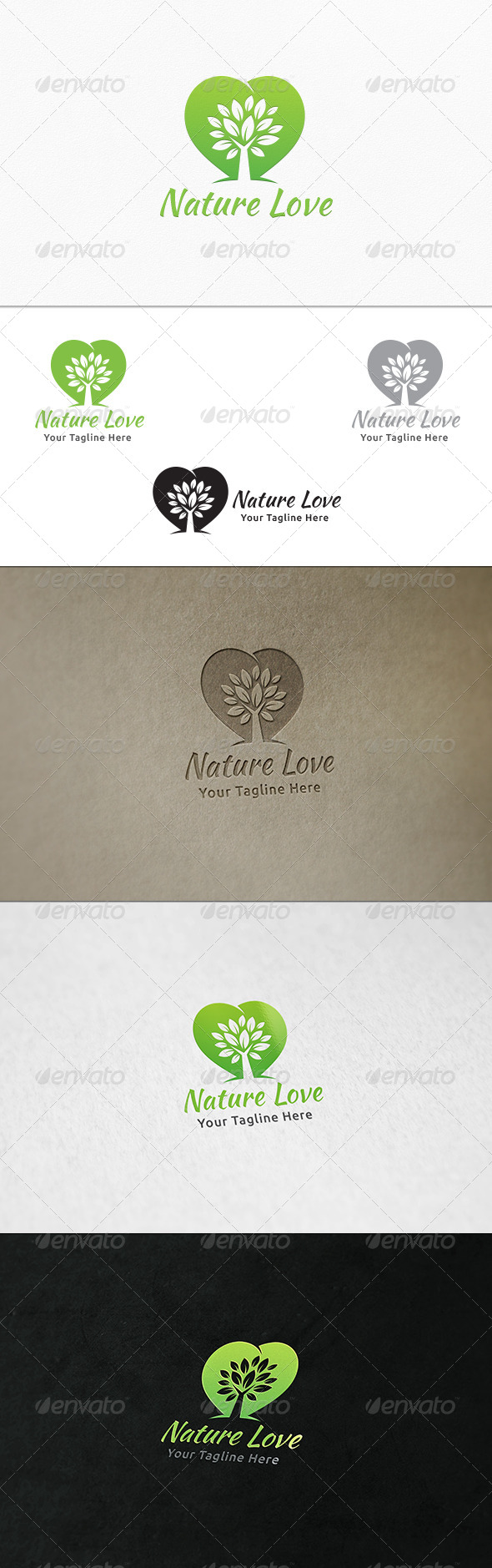 GraphicRiver Nature Love Logo Template 8052769