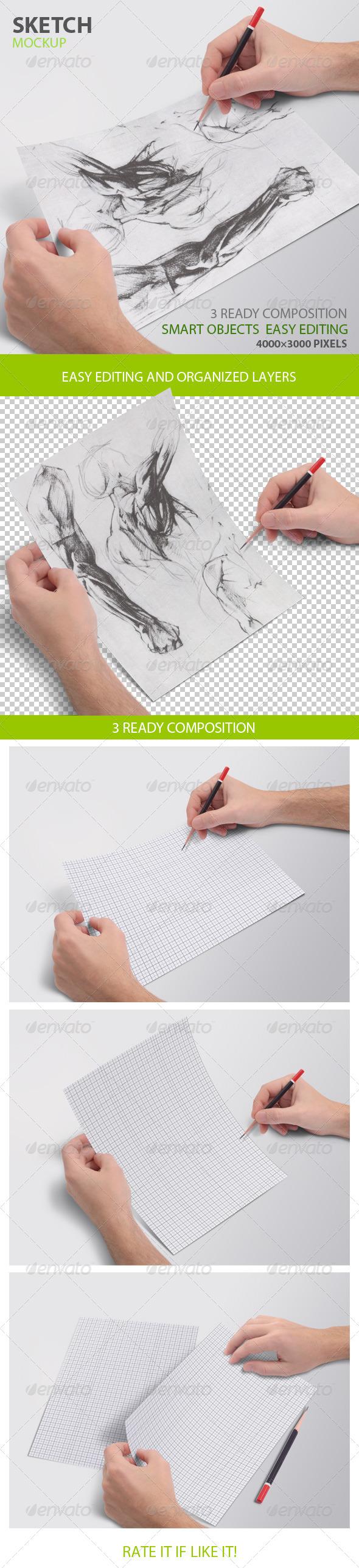 GraphicRiver Sketch mockup 8052775