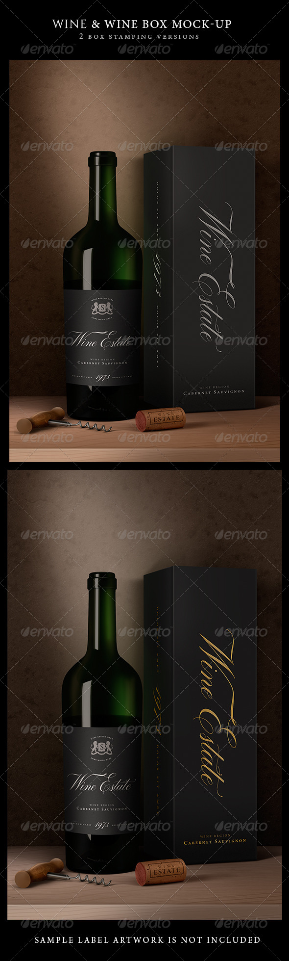 GraphicRiver Wine Packaging Artistic Mock-Up 8052885