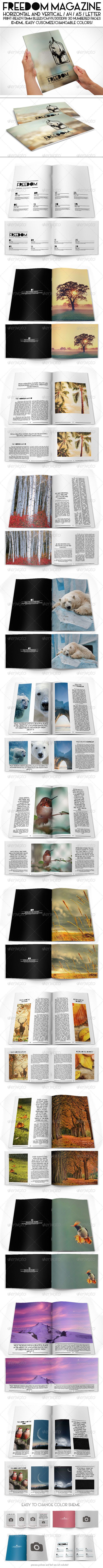GraphicRiver Freedom Magazine Pack 8052912