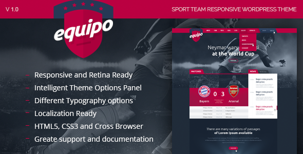 ThemeForest Equipo Responsive WordPress Theme 8015431