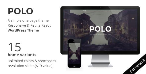 ThemeForest POLO WordPress One Page Responsive Portfolio 7994934