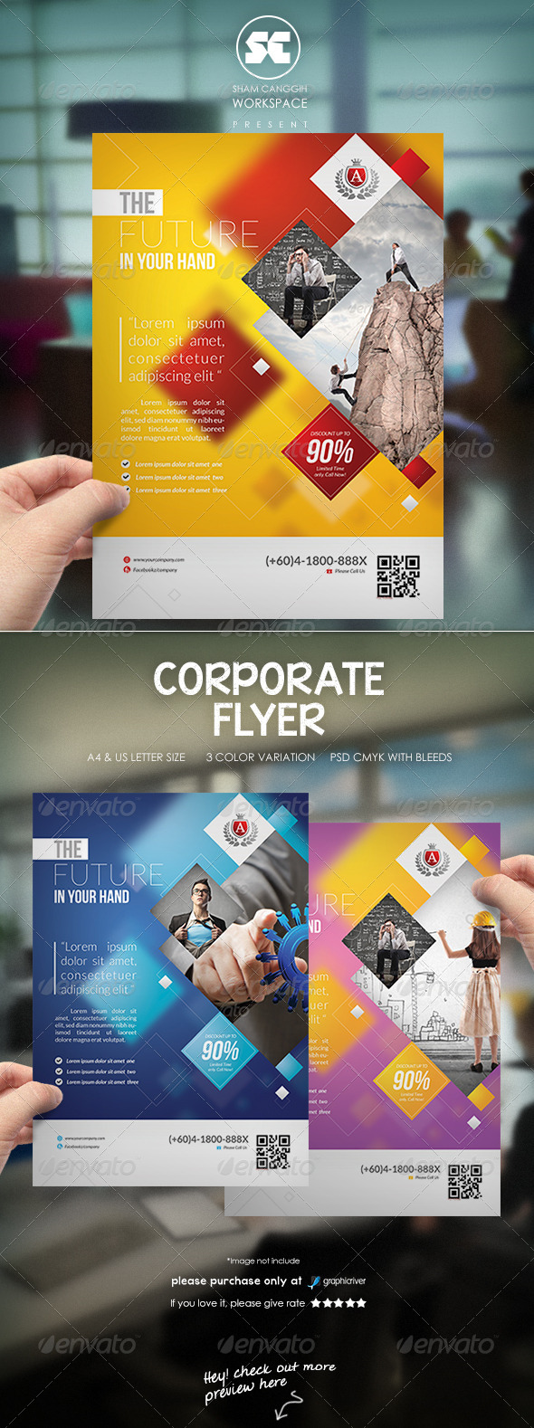 GraphicRiver Modern Corporate flyer 8053300