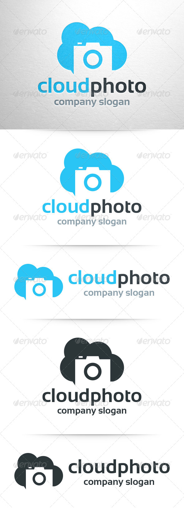 GraphicRiver Cloud Photo Logo Template 8053598