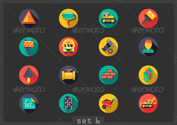 GraphicRiver Construction Flat Icons 8053992