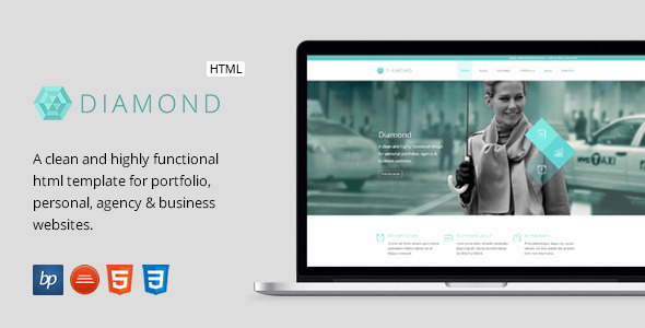 Diamond - Responsive Business HTML5 Template - Business Corporate