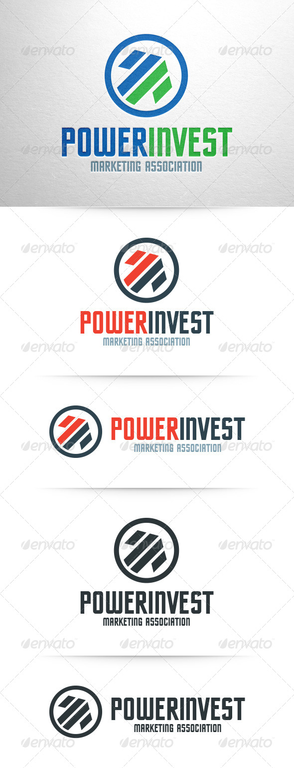 GraphicRiver Power Invest Logo Template 8054121