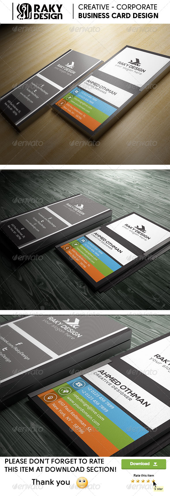 GraphicRiver Flat Minimal Simple Business Card 22 8054161