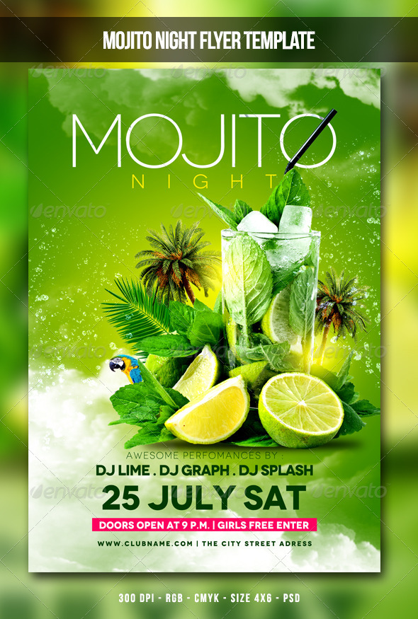 GraphicRiver Mojito Night Flyer 8050984