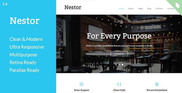 Nestor - Responsive HTML5 Template - Corporate Site Templates