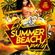 Hot Summer Beach Party Flyer Template  - GraphicRiver Item for Sale