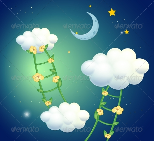 GraphicRiver Flower Laders going to Clouds 8054191