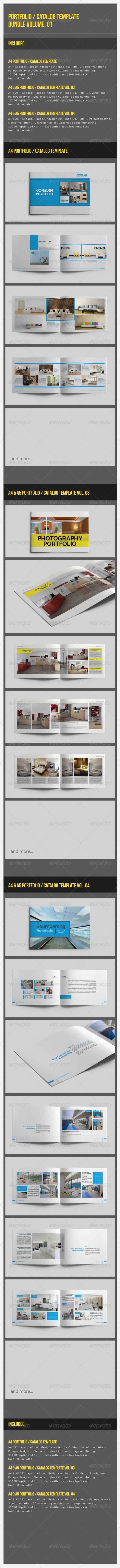 GraphicRiver Portfolio Catalog Template Bundle Vol 01 8054201