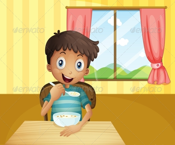 GraphicRiver Boy Eating Cereal 8054380