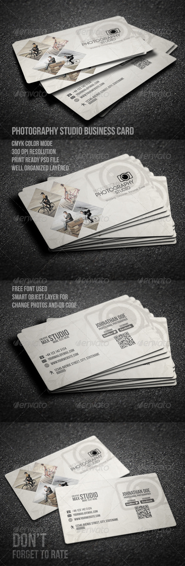 GraphicRiver Photography Studio Business Card 8054411