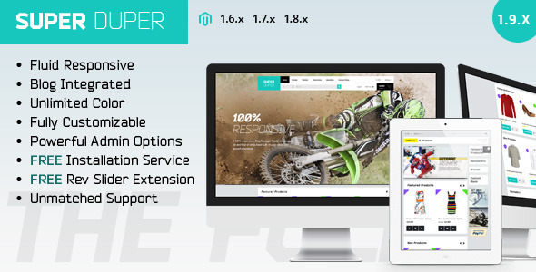 ThemeForest Super Duper Ultimate Responsive Magento Theme 8016081