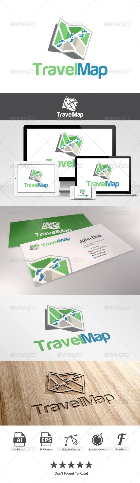 GraphicRiver Travel Map Logo 8054454
