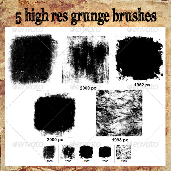GraphicRiver High Res Grunge Brush Set 1 8054513