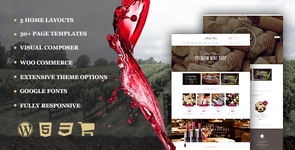 Wine - Restaurant WordPress Shop With Page Builder - Creative WordPress
