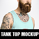 Hipster Tank Top Mock Up - GraphicRiver Item for Sale
