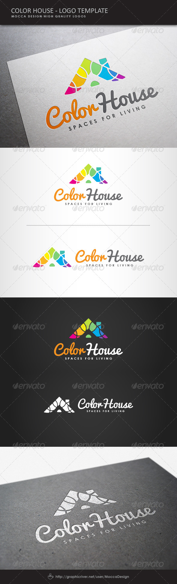GraphicRiver Color House Exclusive Logo 8054692