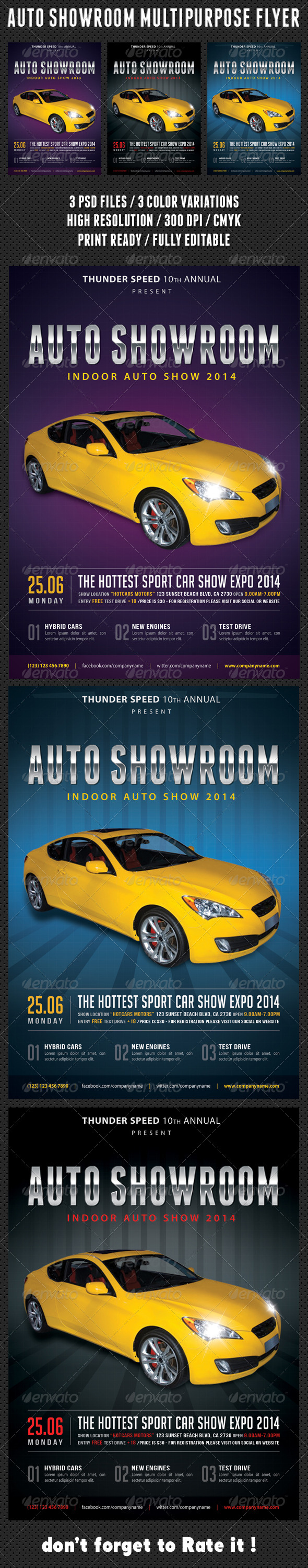 Auto Showroom Multipurpose Flyer 01 - Events Flyers