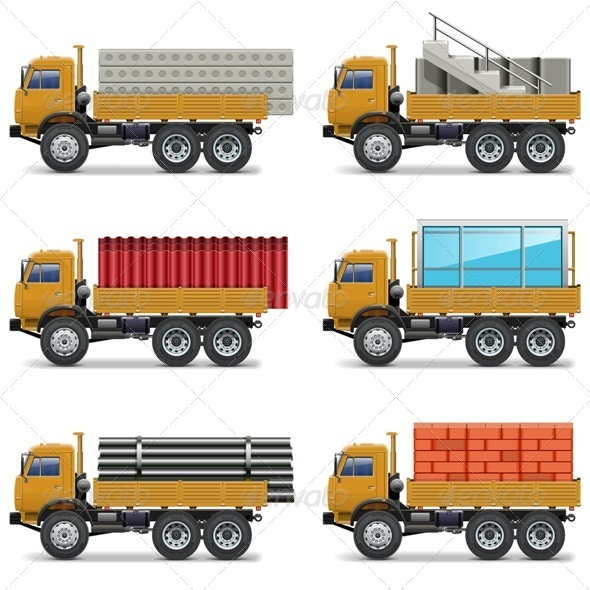 GraphicRiver Construction Trucks 8054983