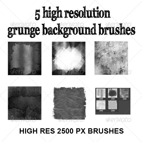 GraphicRiver High res grunge background brush set 8055211