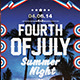 4th July Summer Night Flyer Template - GraphicRiver Item for Sale