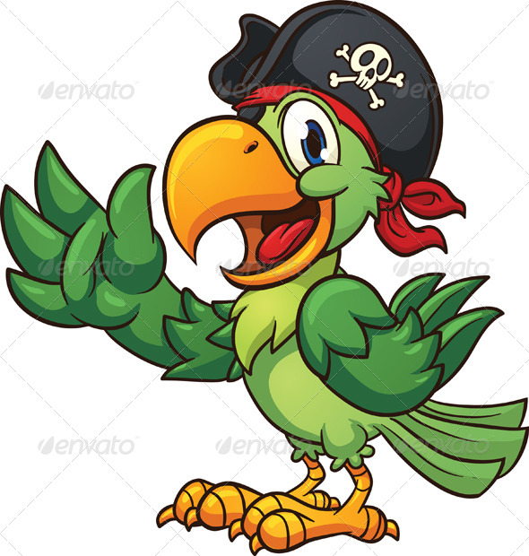 GraphicRiver Pirate Parrot 8055571