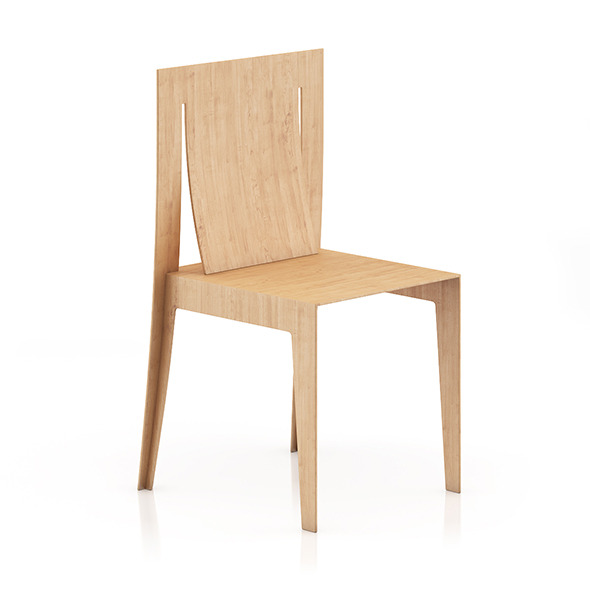 Wooden Chair 7 - 3DOcean Item for Sale