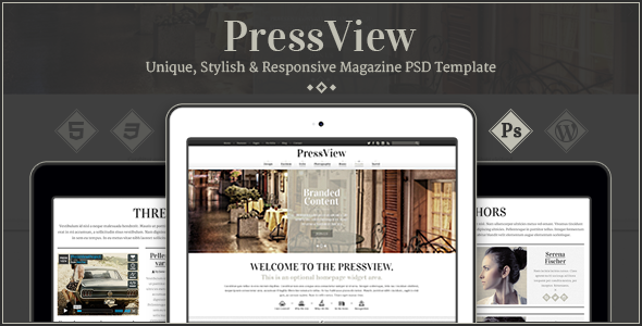 PressView - Clean and Modern Magazine Template