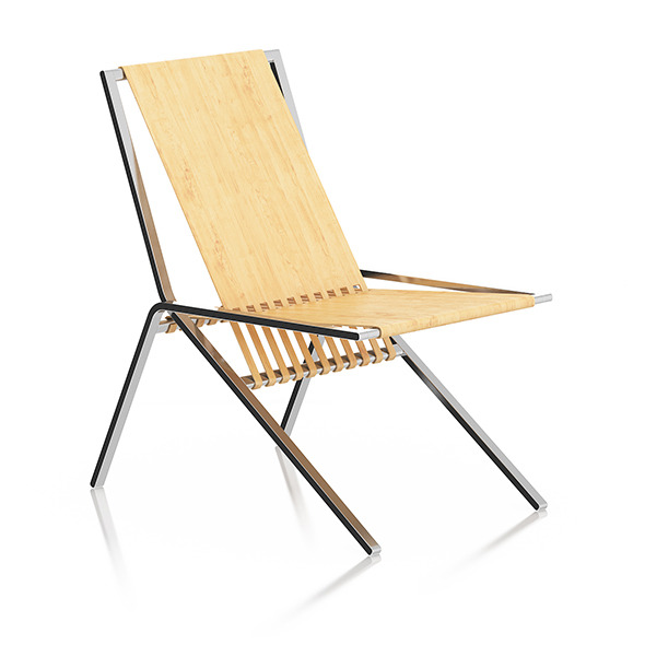 3DOcean Wood and Metal Lounge Chair 8055624