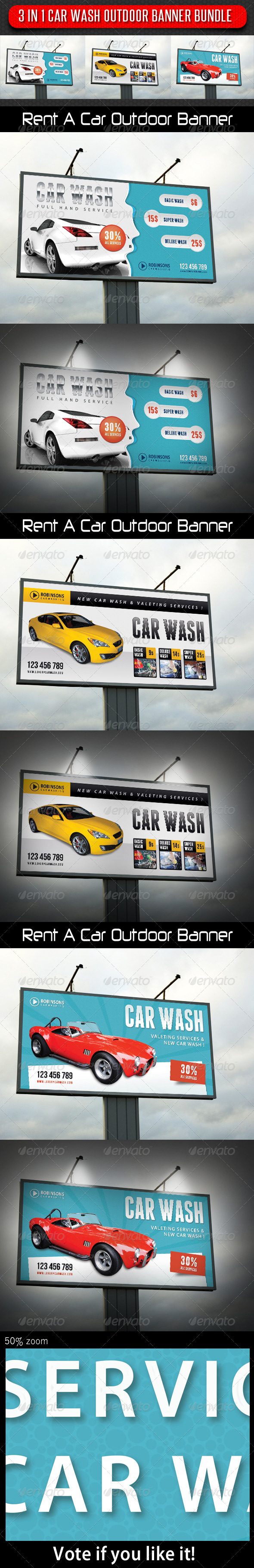 GraphicRiver 3 in 1 Car Wash Outdoor Banner Bundle 01 8055691