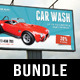 3 in 1 Car Wash Outdoor Banner Bundle 01 - GraphicRiver Item for Sale