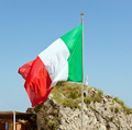 Italian flag waving on the wind - PhotoDune Item for Sale