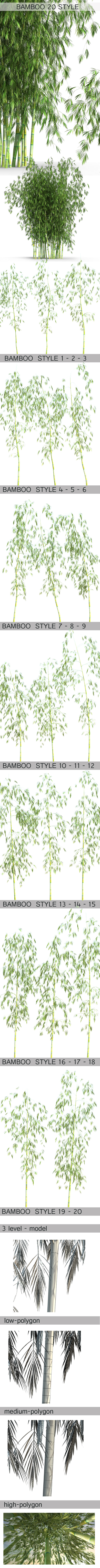20 Style of Bamboo - 3DOcean Item for Sale