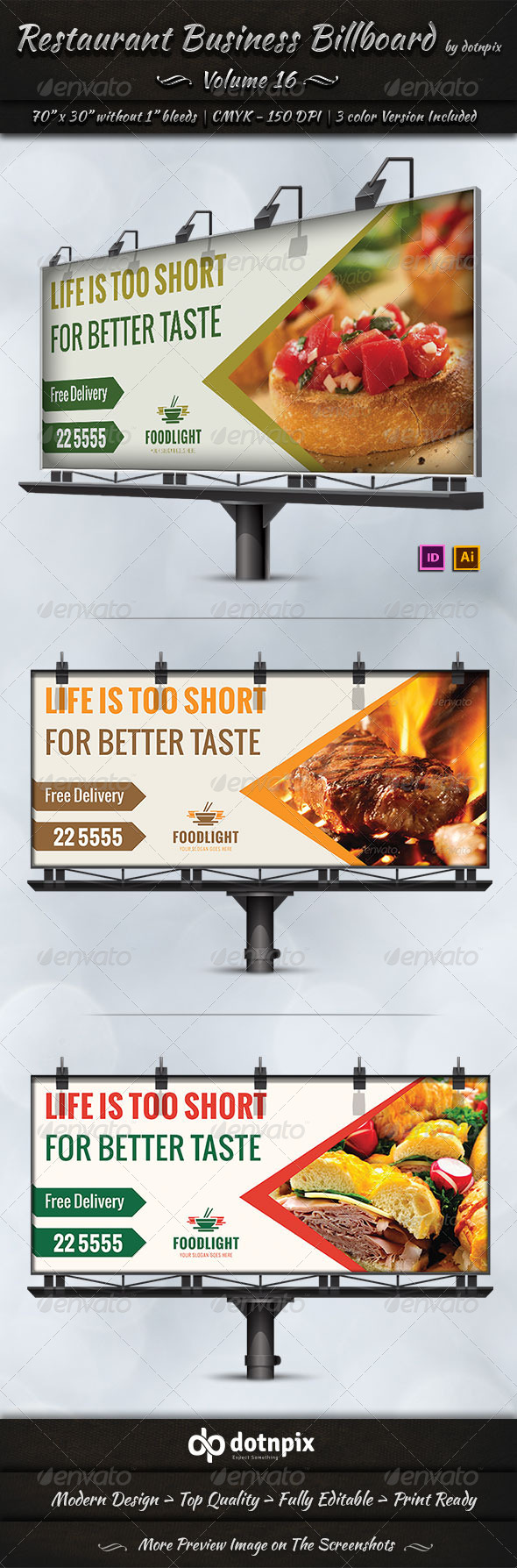 GraphicRiver Restaurant Business Billboard Volume 16 8055926