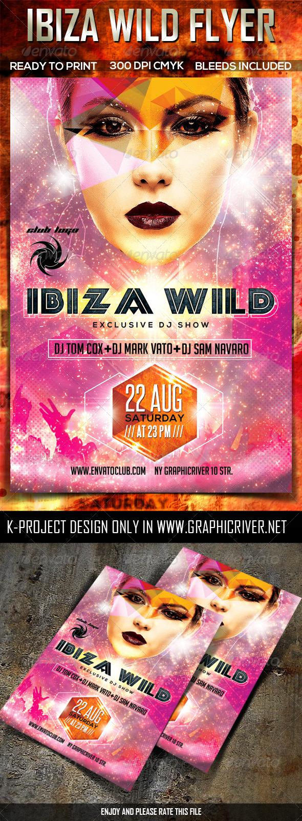 GraphicRiver Ibiza Wild Party Flyer 8055944