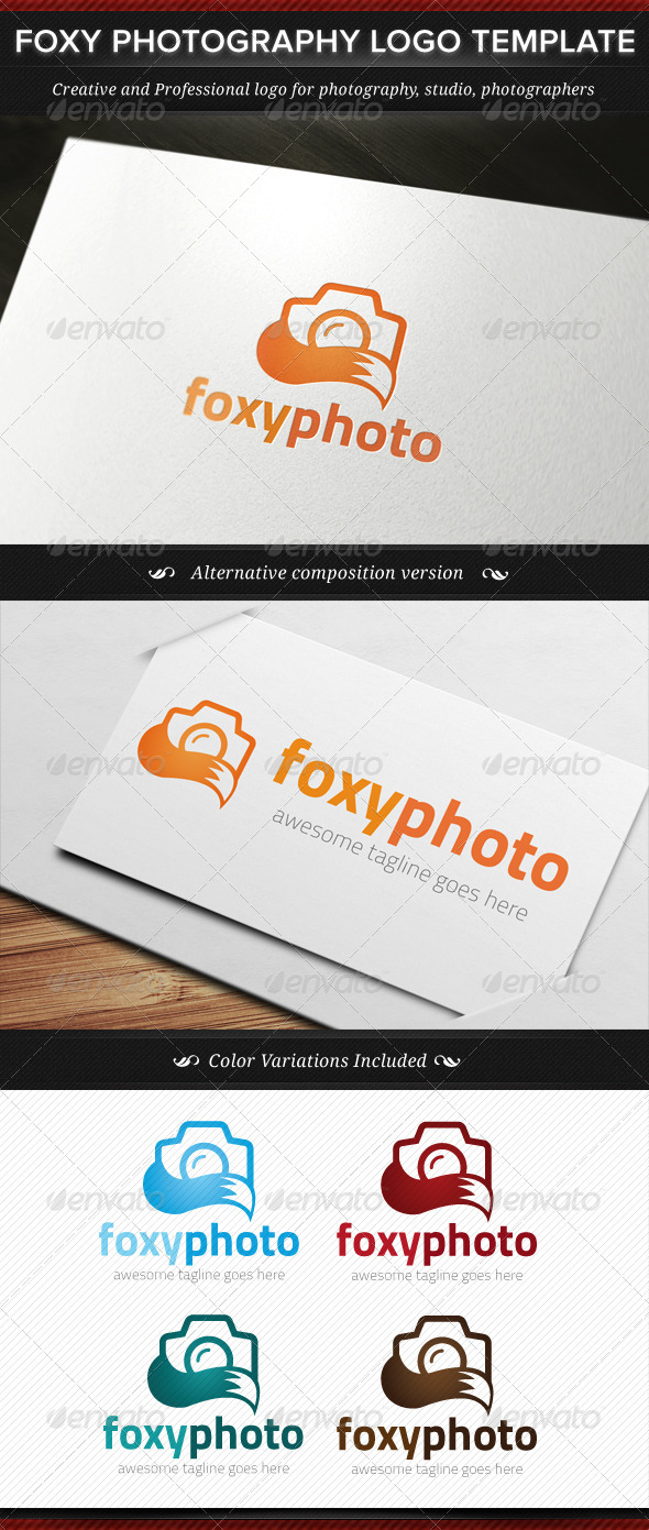 GraphicRiver Foxy Photography Logo Template 8055949